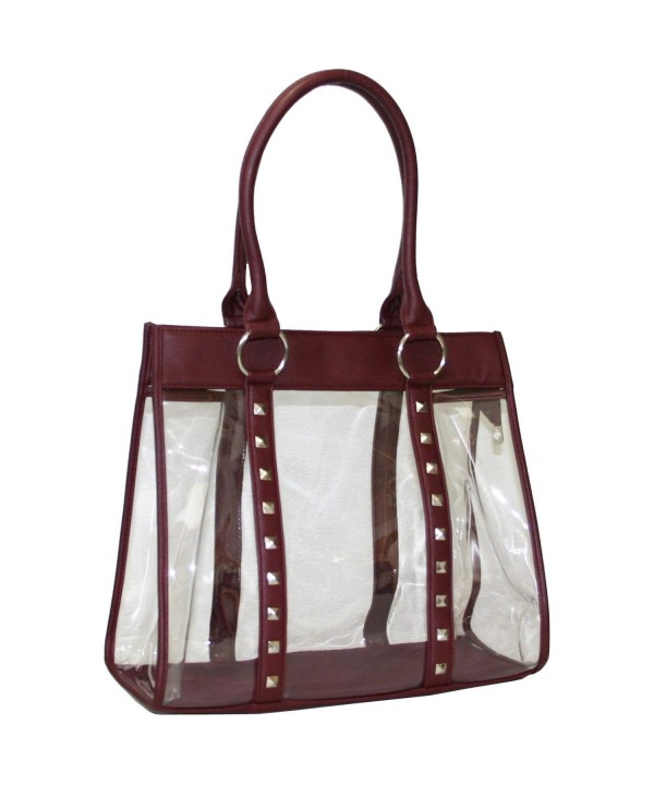 Women Clear Through Transparent Handbag
