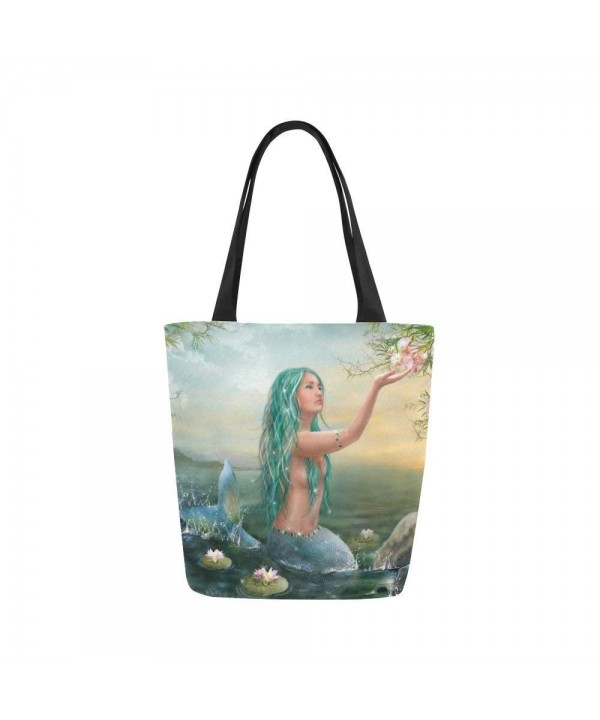 InterestPrint Beautiful Mermaid Shoulder Handbag