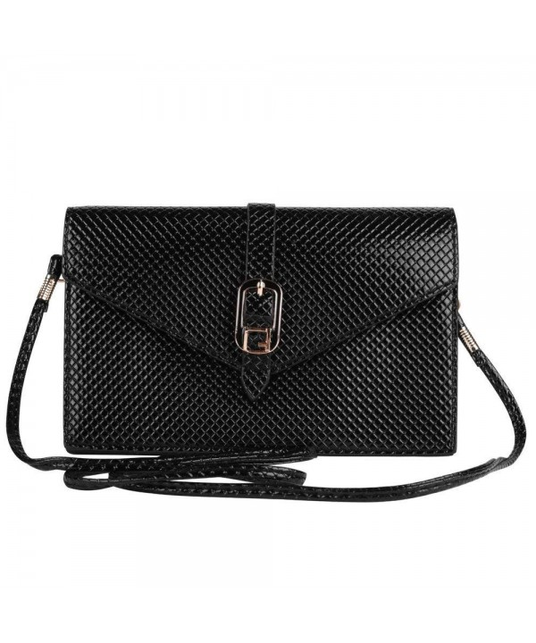 Black Elegant Diamond Women Clutch