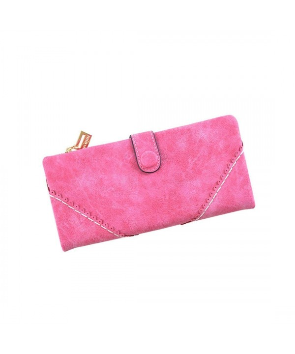 Leather Wallet Women Holder Clutch