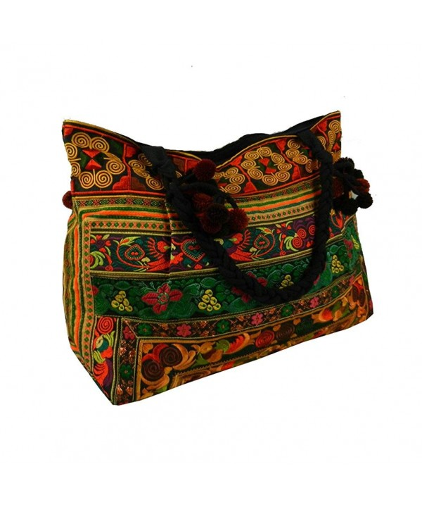 Shoulder Hilltribe Ethnic Floral Embroidered