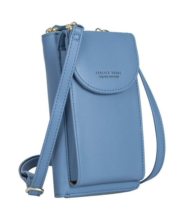 S ZONE Leather Cellphone Zippered Crossbody