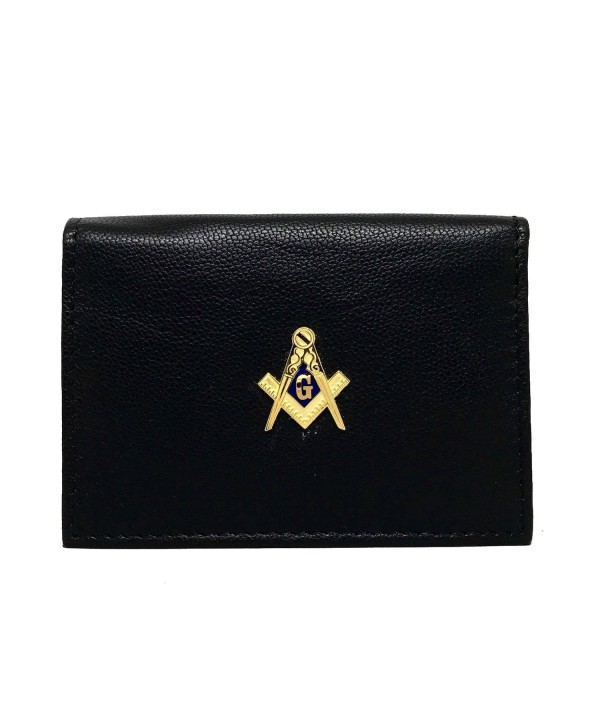 Freemasons Business Card Case Leather