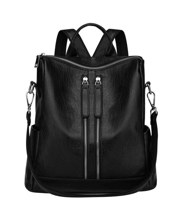 SAMSHOWME Lightweight Leather Backpack Shoulder