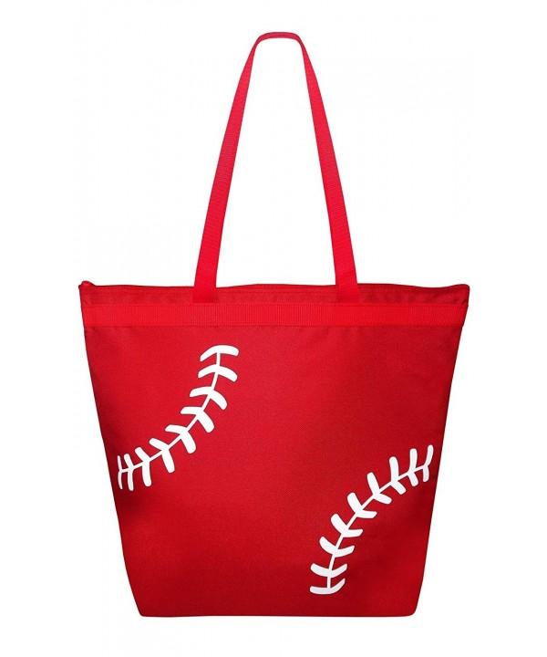 Baseball Laces Tote Bag White