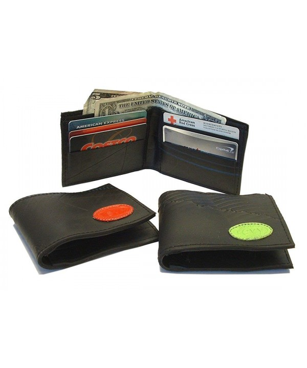 Recycled Rubber Tire Wallet logo
