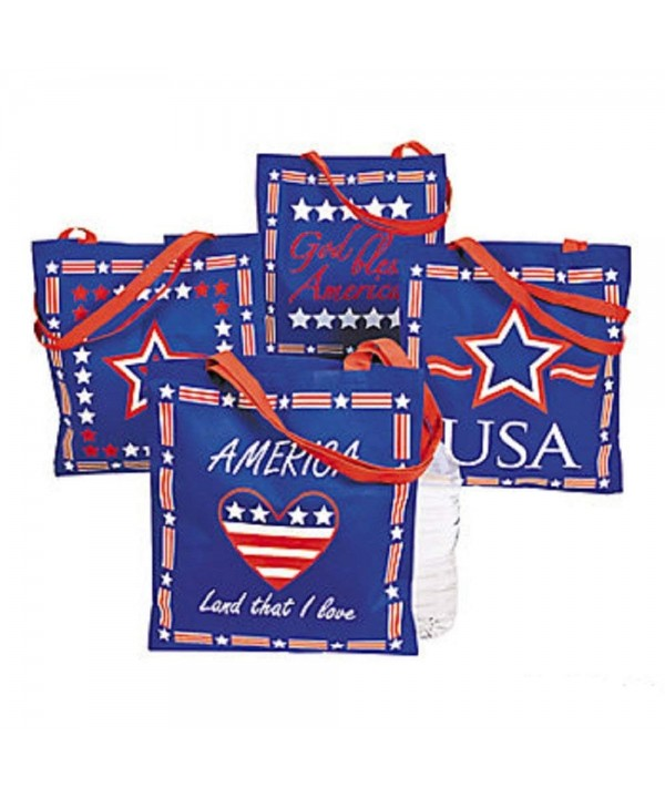 Large Patriotic Tote Bags Non woven