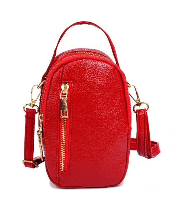 Small Leather Crossbody Zipper Ladies