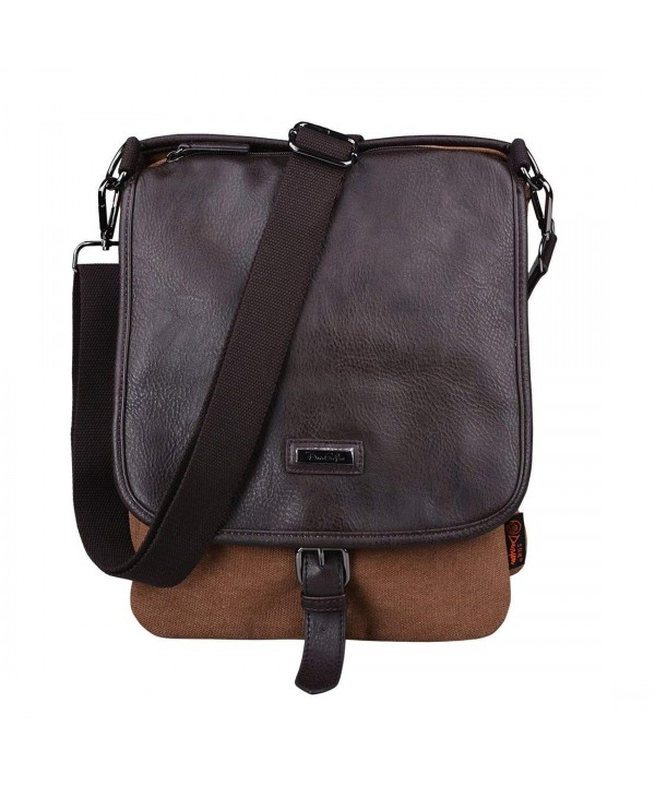 Douguyan Vertical Messenger Shoulder Satchel