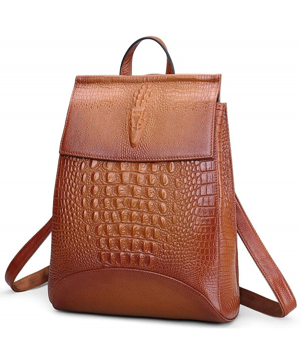 Fashion Genuine Leather Backpack Shoulder
