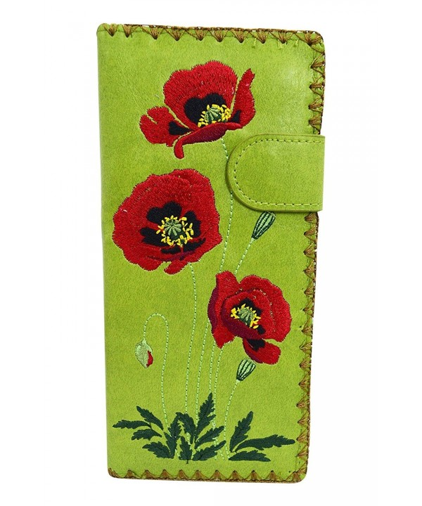 Lavishy Poppy Flower Embroidered Wallet