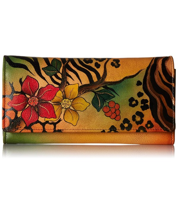 Anna Anuschka Painted Leather Wallet