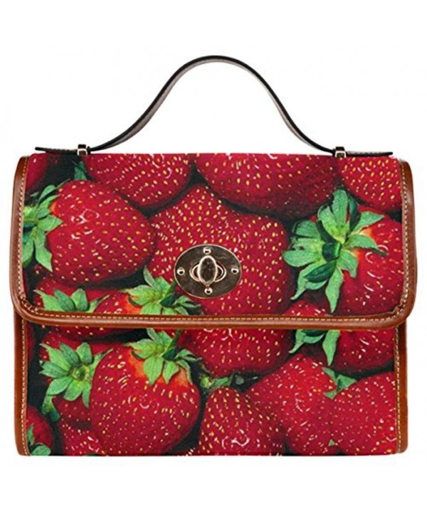 InterestPrint Strawberry Messenger Crossbody Handbags