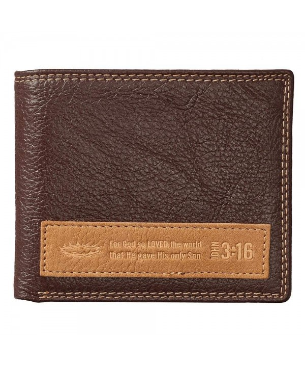 Brown Genuine Leather Wallet Applique
