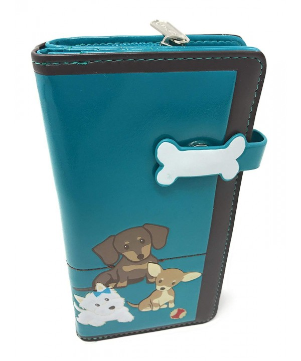 Shagwear Puppy Polaroid Wallet Teal