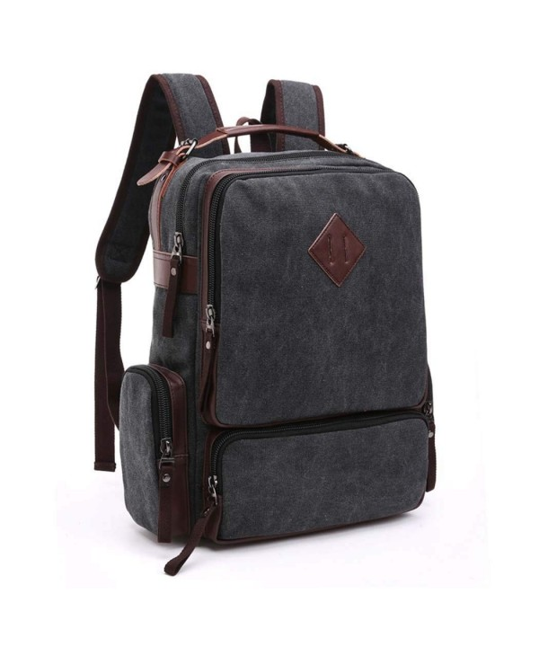 5de7b66de4 Lightweight Canvas School Backpack College Laptop Bags Travel ...
