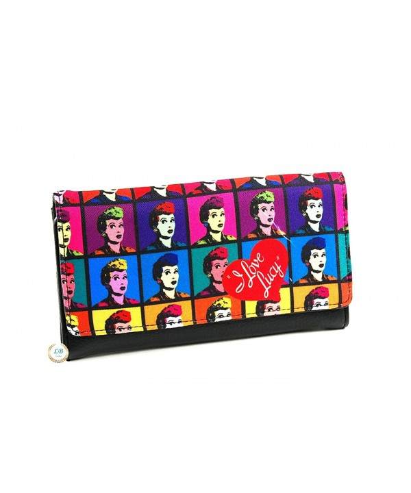 Lucy Colorful Collage Canvas Wallet