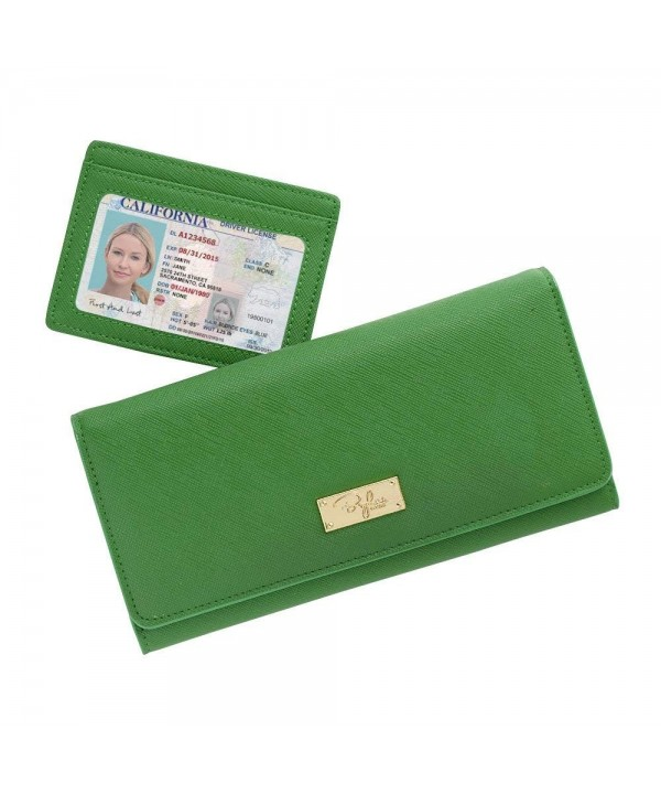 Womens Bifold Blocking Wallet Crossgrain