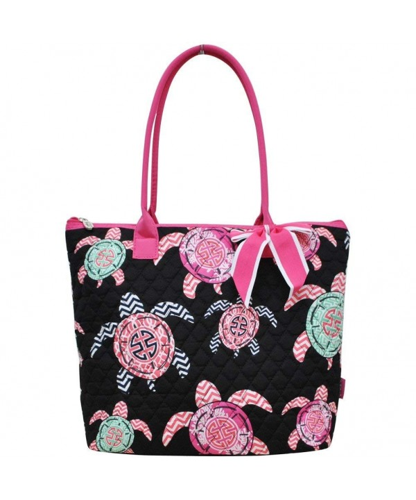Turtle Print NGIL Quilted Tote
