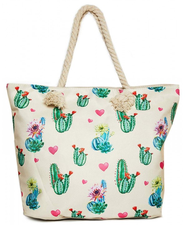 Cactus Beach Shoulder Tote Bag