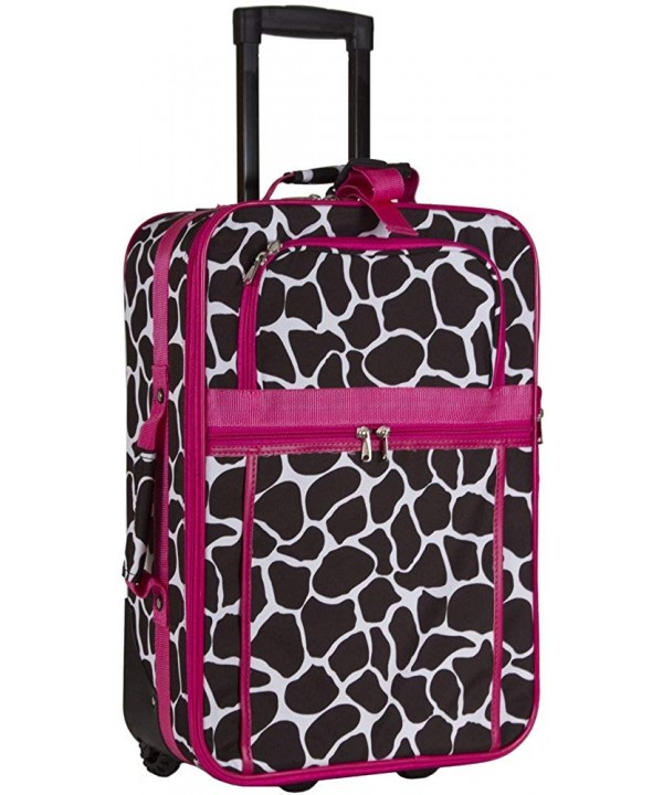 Giraffe Carry On Luggage Pink