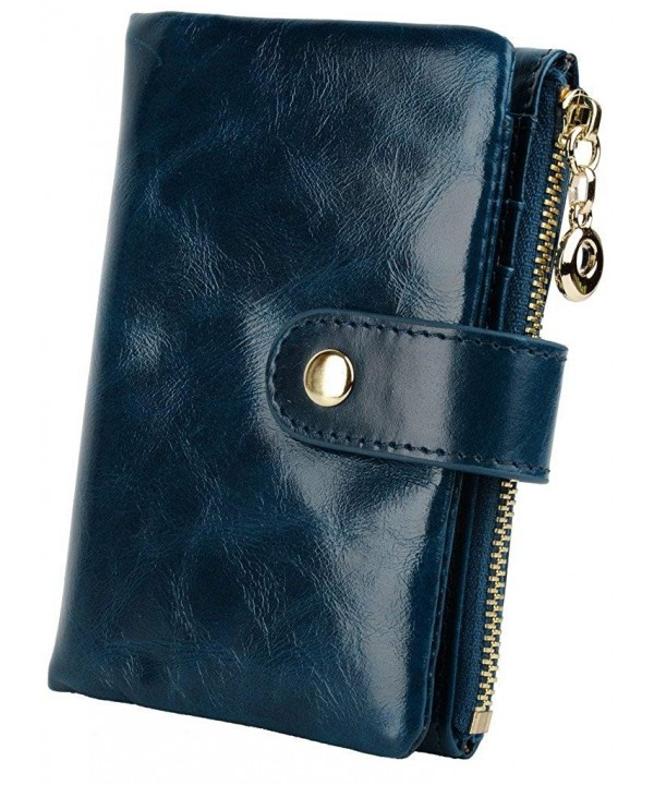 YALUXE Womens Compact Leather Bi fold