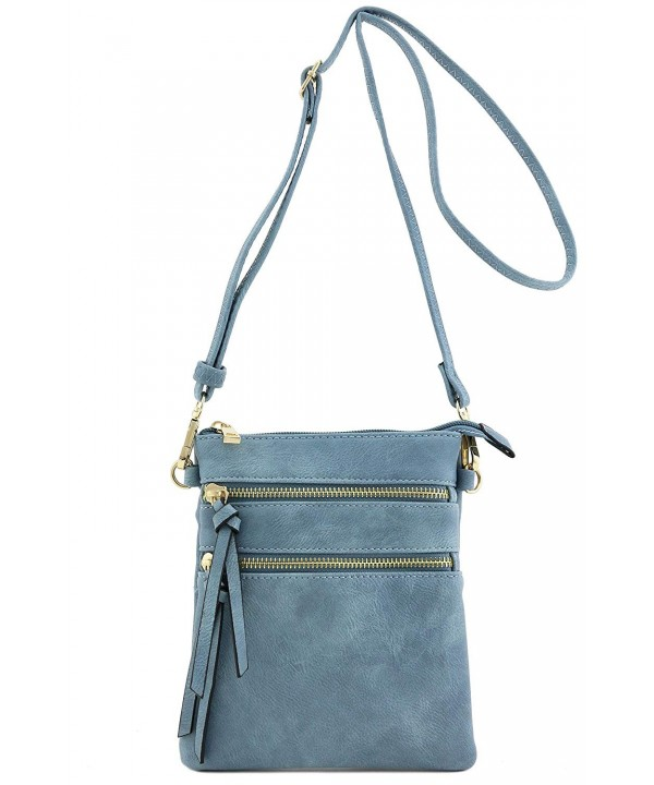 Functional Multi Pocket Crossbody Blue