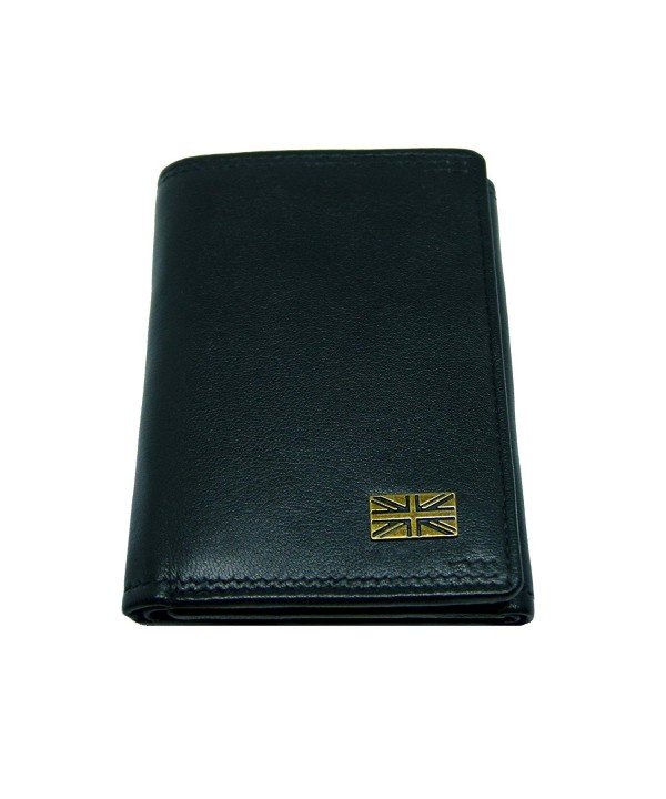 Leather Trifold Wallet Black Country