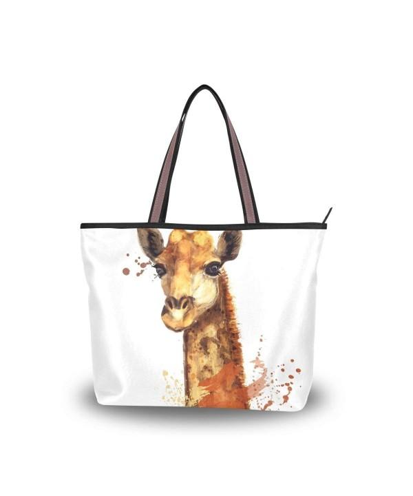 JSTEL Shoulder Giraffe Watercolor Handbag
