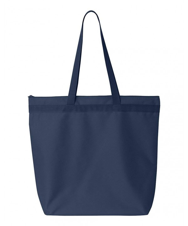 UltraClub 8802 Zippered Tote Bag
