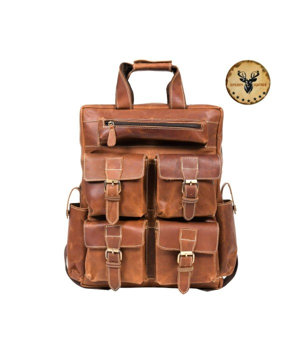 Sperry Leather Backpack Handcrafted Shoulder