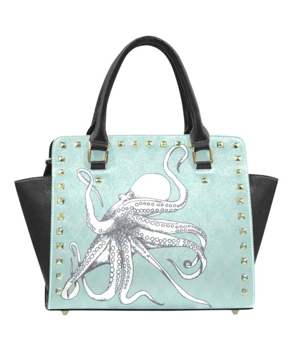InterestPrint Octopus leather Shoulder Handbag