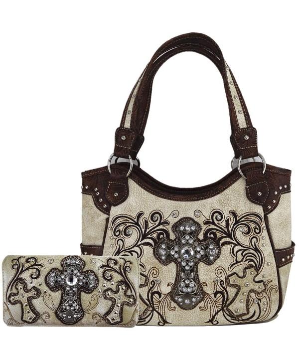 Western Rhinestone Concealed Handbags Shoulder