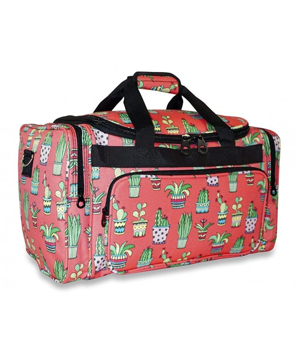 Ever Moda Cactus Duffle Bag