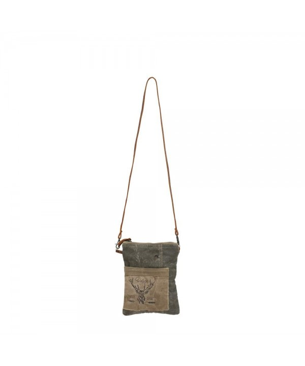 Vintage LeafedCross Bag Stamped Leather