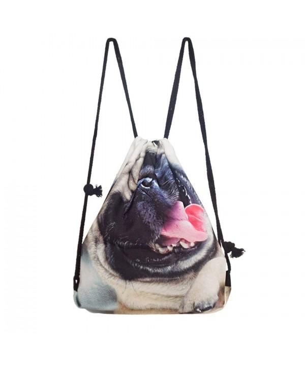 Shoulder Drawstring Backpack Rucksack Handbag