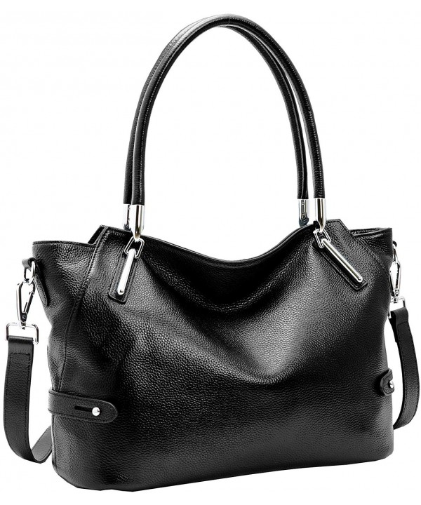 Leather Handbags Shoulder Designer Black KR008