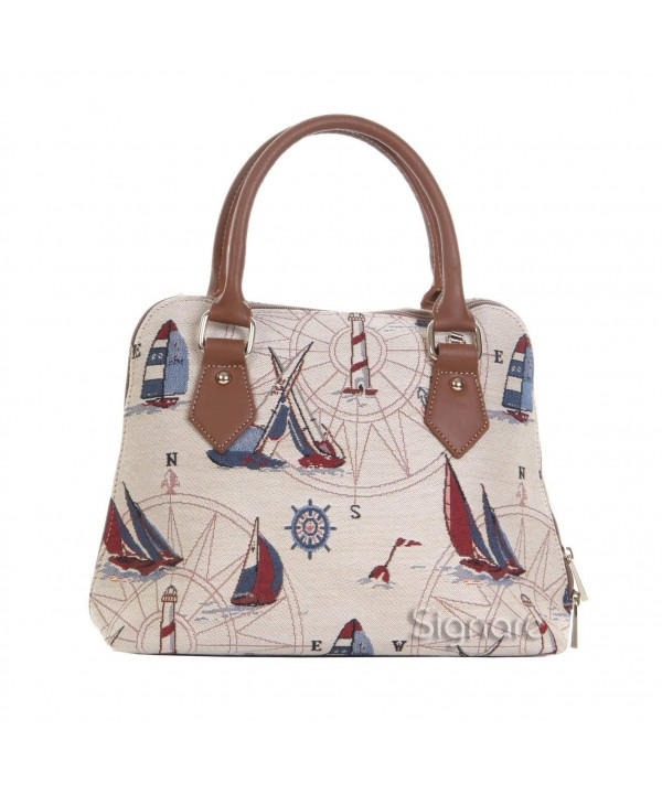 Signare Tapestry Handbag Detachable Nautical