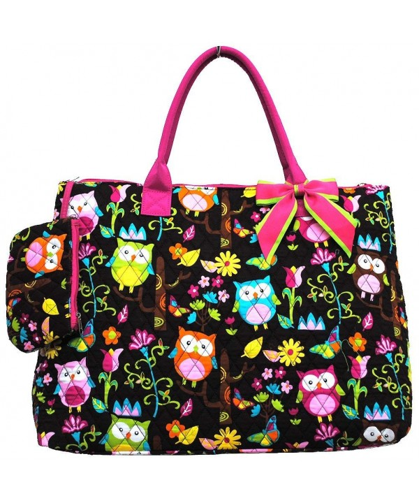 Print Quilted Over Night Bag hot