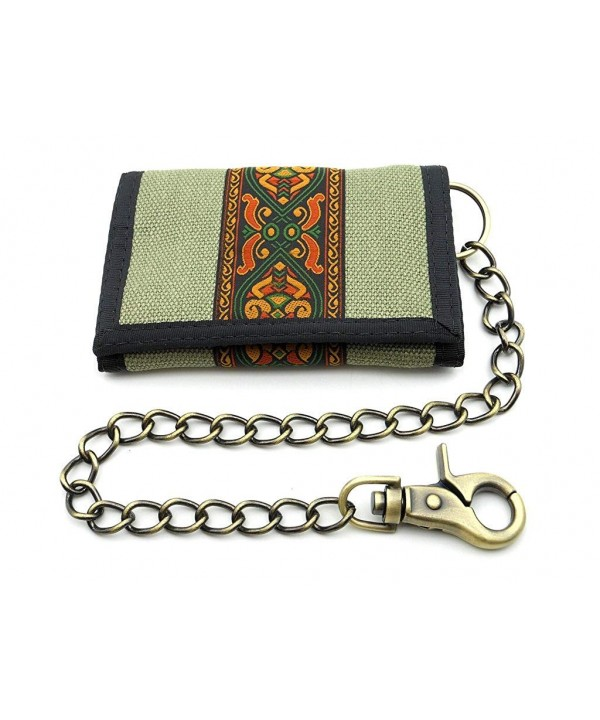 Hempys Hemp Tri fold Wallet Chain
