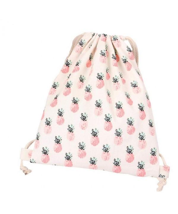 Lookatool Pineapple Drawstring Backpack Shopping