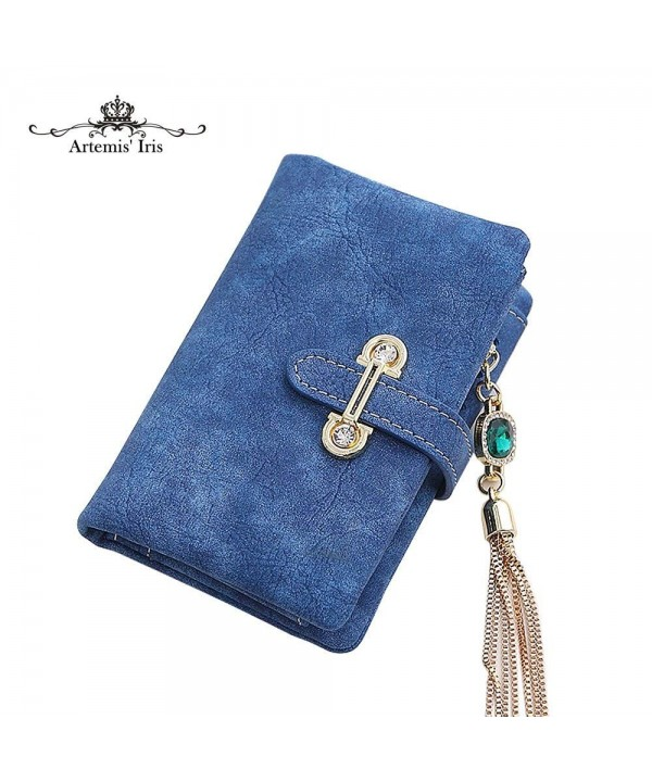 ArtemisIris Wallet Leather Trifold Royalblue