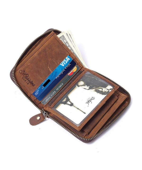 Leather Around Wallet Window Secure