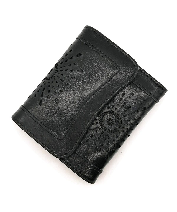Wallet Female Leather Holder Hollow