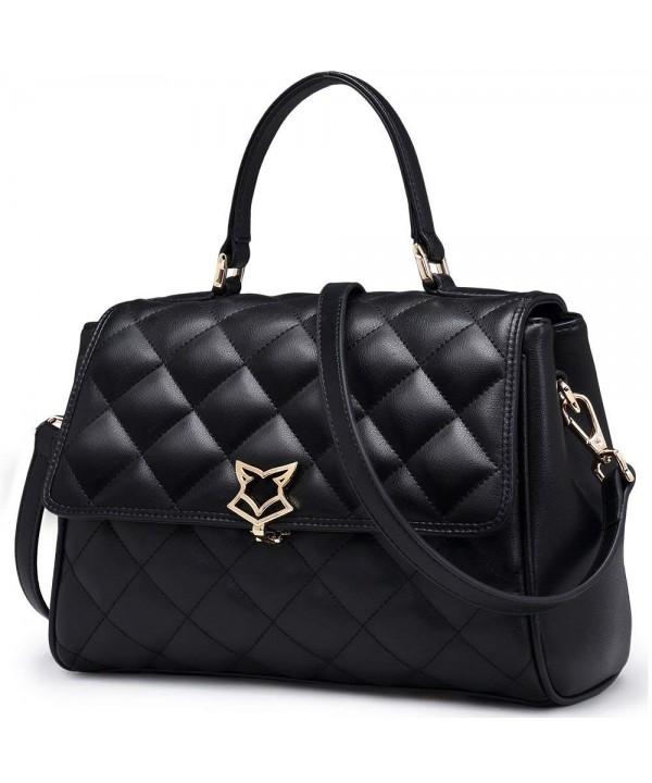 FOXER Handbag Leather Shoulder Quilted