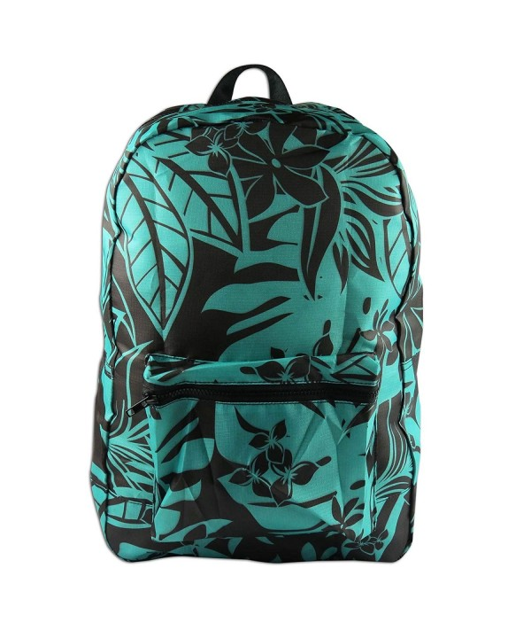 KC Hawaii Foldaway Backpacks Turquoise