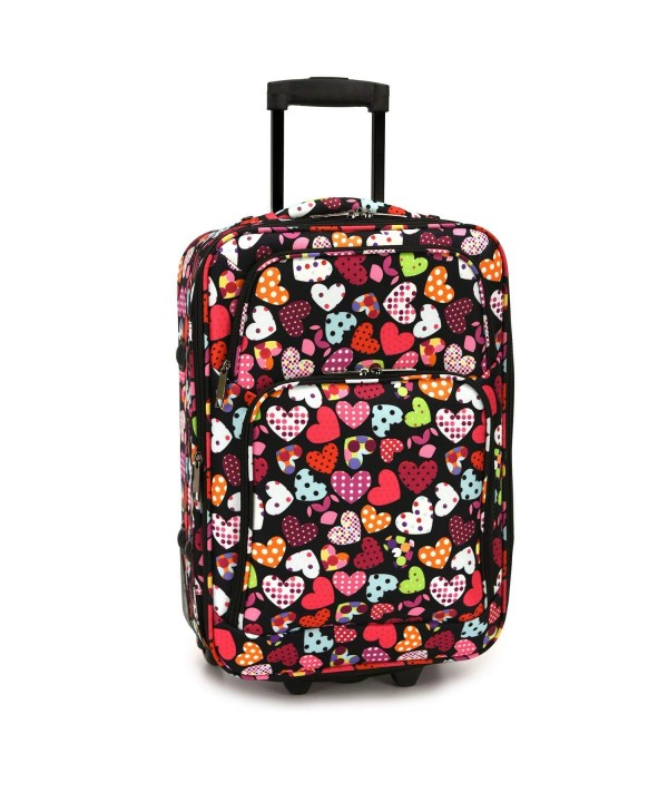 Elite Luggage Hearts Rolling Multi Color