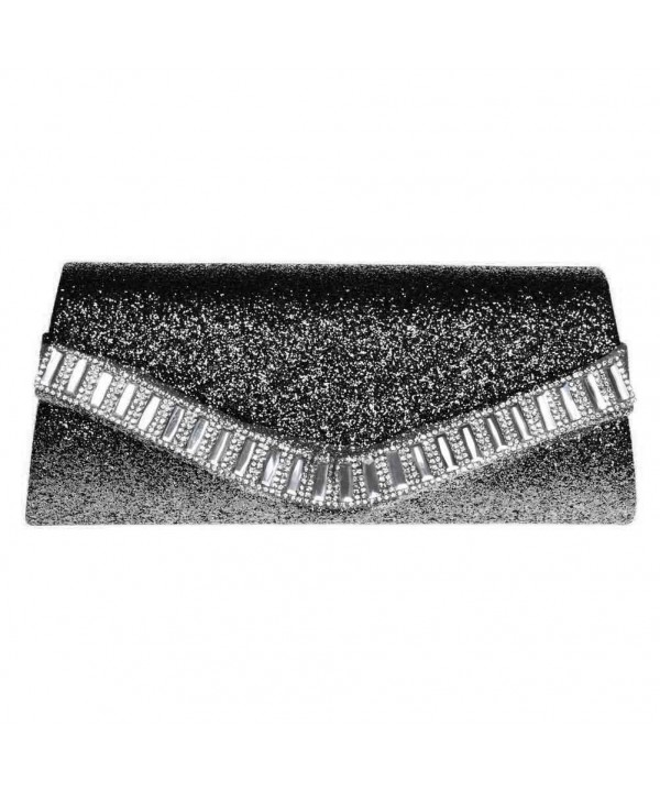 FASHIONROAD Evening Rhinestone Envelope Glitter