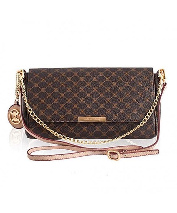 Violett Handbags Leather Accents Baguette Bag