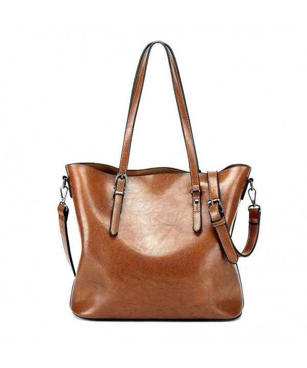 Vintage Leather Shoulder Handbags Satchels